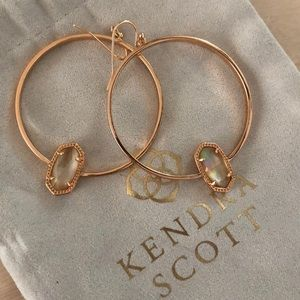 NWOT Kendra Scott Rose Gold Hoops